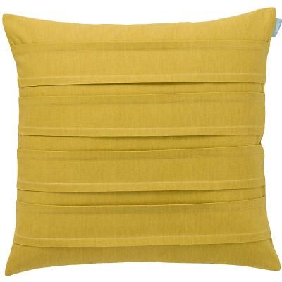 Spira Double Pleat Mustard Cushion