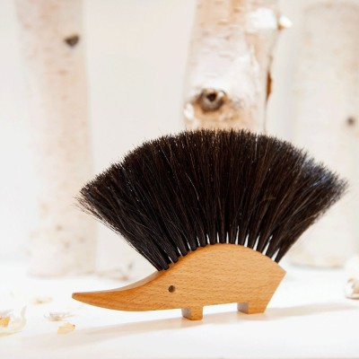 Horsehair Hedgehog Table Brush