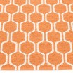 Pappelina Ants Pale Orange & Vanilla Runner Detail