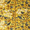 Almedahls Körsbärsträdgården Mustard Swedish Fabric