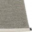 Pappelina Mono Warm Grey & Charcoal Rug Edge Detail