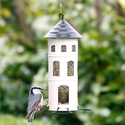 White Swedish Combi Seed Bird feeder