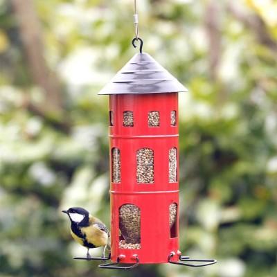 Red Swedish Combi Seed Bird Feeder