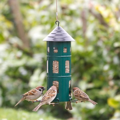 Green Swedish Combi Seed Bird Feeder