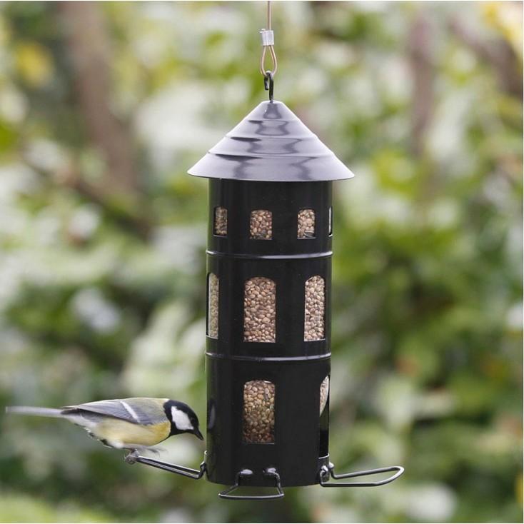 Black Swedish Combi Seed Bird Feeder