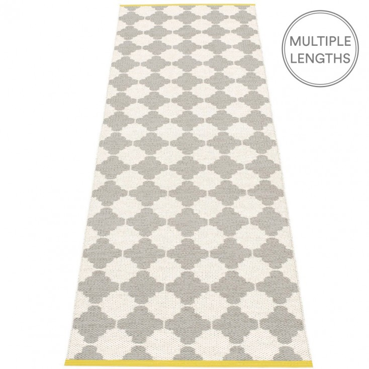 Pappelina Marre Warm Grey & Vanilla Runner - 70 x 225 cm