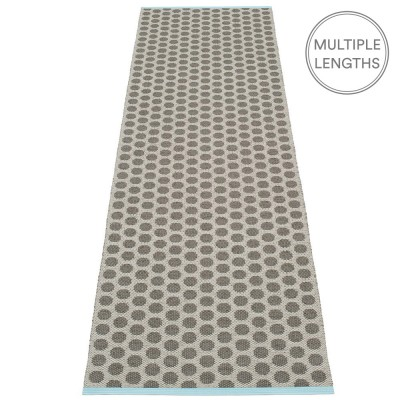 Pappelina Noa Charcoal & Warm Grey Runner - 70 x 250 cm