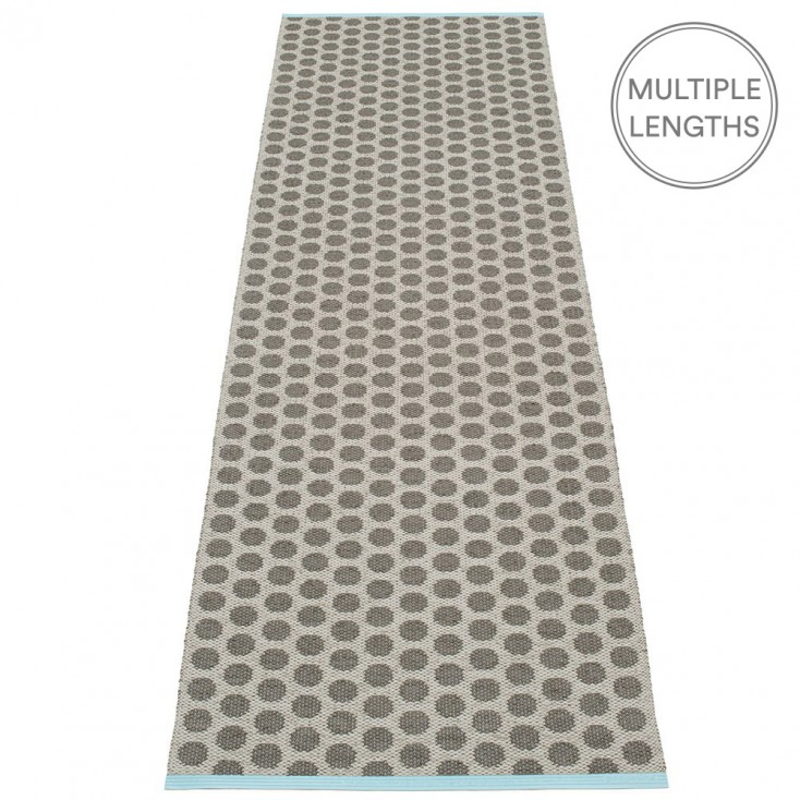 Pappelina Noa Charcoal & Warm Grey Runner - 70 x 250 cm
