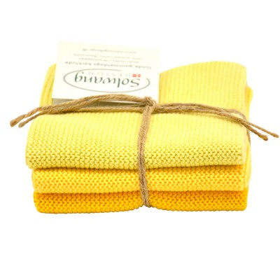Danish Cotton Dishcloth Trio - Yellow