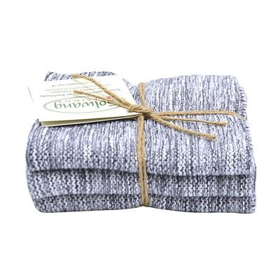 Danish Cotton Dishcloth Trio - Grey Marl