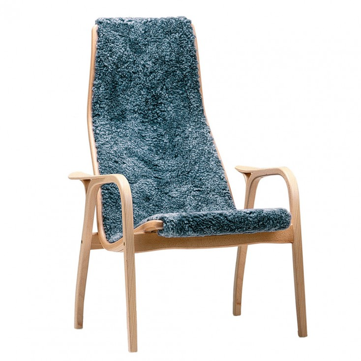 Swedese Graphite Sheepskin Lamino Chair