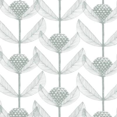 Remnant - Björnbärsblomma Green Fabric - 1.1 m