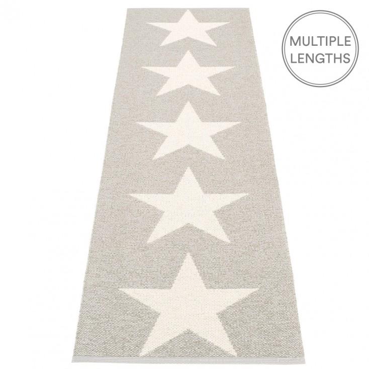 Pappelina Viggo Star Stone Metallic Runner - 70 x 250 cm