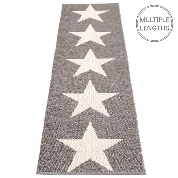 Pappelina Viggo Star Mud Metallic Runner - 70 x 250 cm