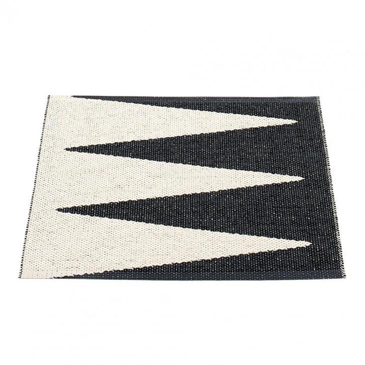 Pappelina Vivi Black & Vanilla Mat - 70 x 60 cm