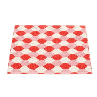 Pappelina Dana Coral Red & Piglet Mat - 70 x 60 cm