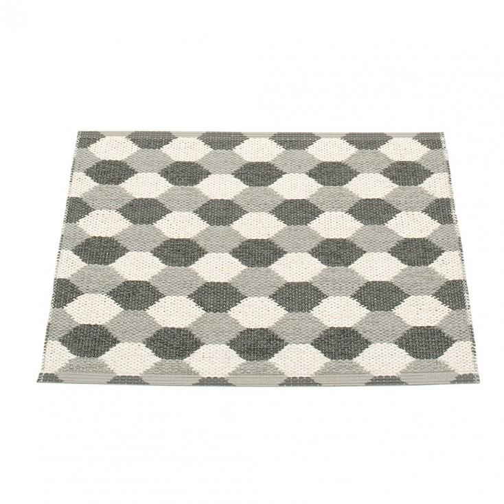 Pappelina Dana Warm Grey & Charcoal Mat - 70 x 60 cm