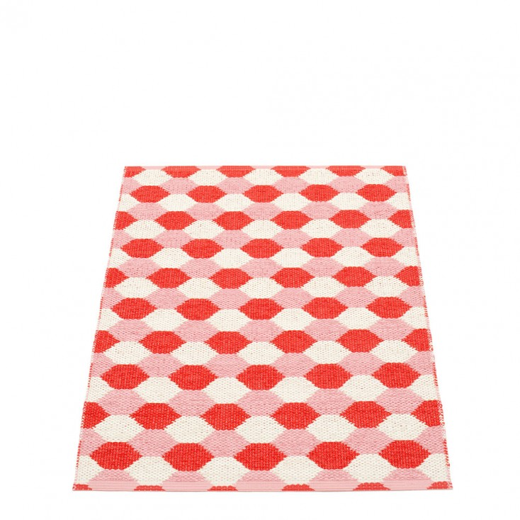 Pappelina Dana Coral Red & Piglet Runner - 70 x 100 cm