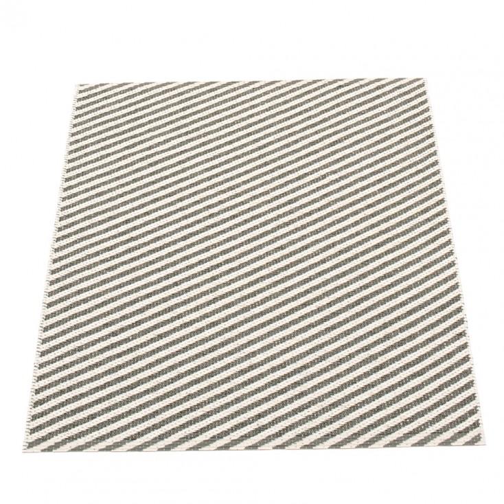 Pappelina Will Charcoal & Vanilla Mat - 70 x 90 cm