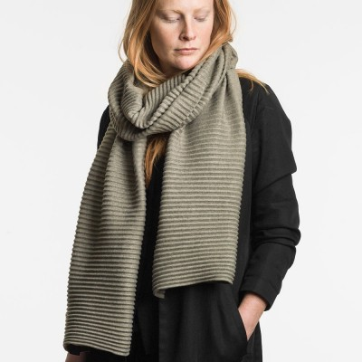 Design House Stockholm Army Green Long Pleece Scarf