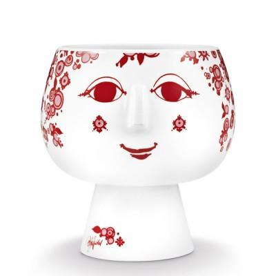 Bjorn Wiinblad Juliane Flowerpot - Red