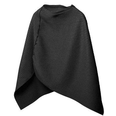 Design House Stockholm Black Short Pleece Poncho