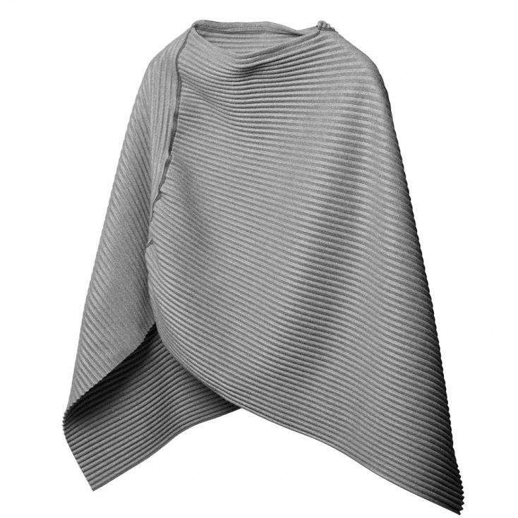 Design House Stockholm Silver Grey Short Pleece Poncho