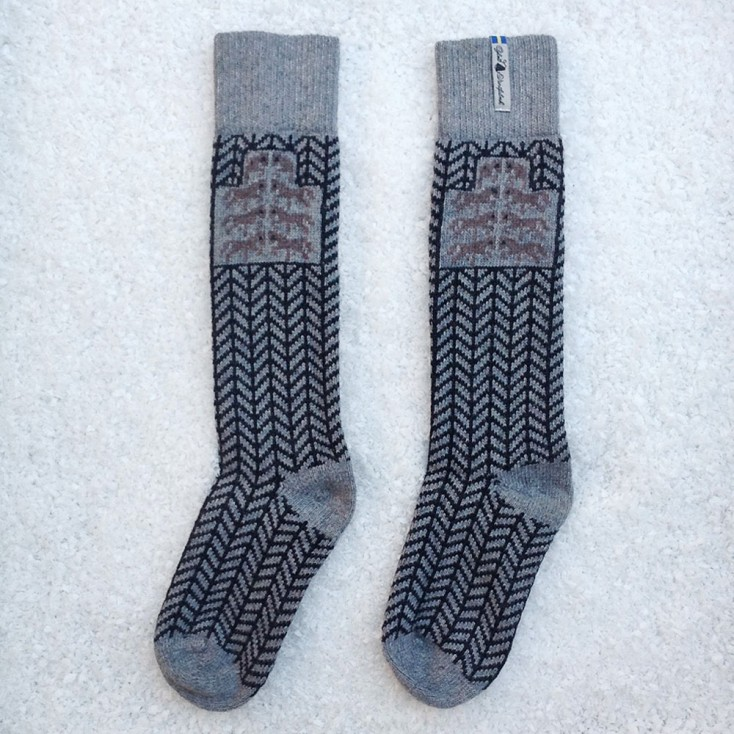 Öjbro Swedish Wool Socks - Gotland Grey