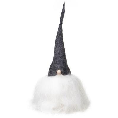 Swedish Tomte 30cm - Grey Hat White Beard