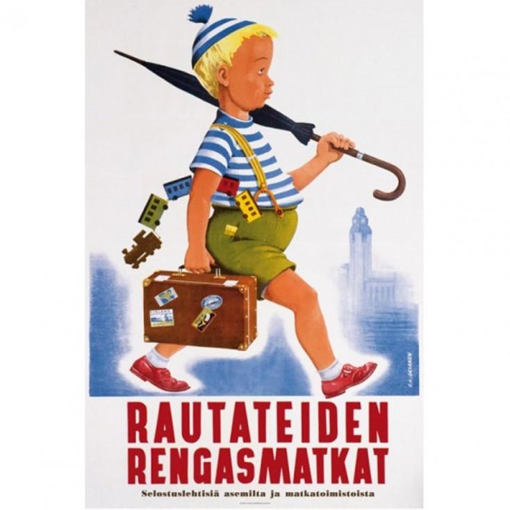 Umbrella Guy - Vintage Travel Poster