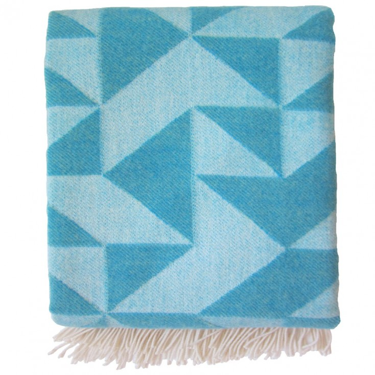 Twist A Twill Turquoise Blanket