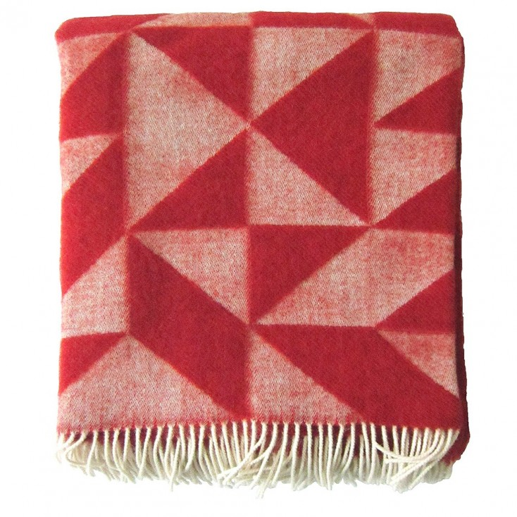 Twist A Twill Red Blanket
