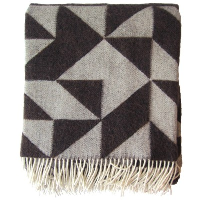 Twist A Twill Chocolate Blanket