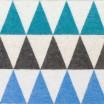 Lapuan Kankurit Blue Harlekiini Wool Blanket