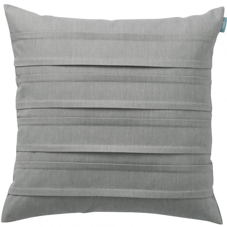 Spira Double Pleat Pewter Cushion