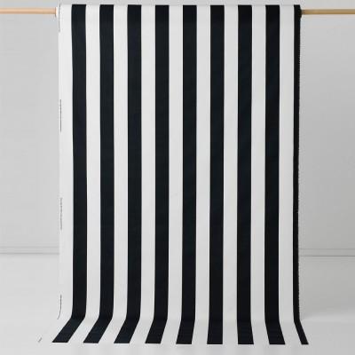 Spira Bodil Black Scandinavian Fabric - Full 150 cm Width