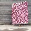 Twist A Twill Blanket Full Size - Bordeaux
