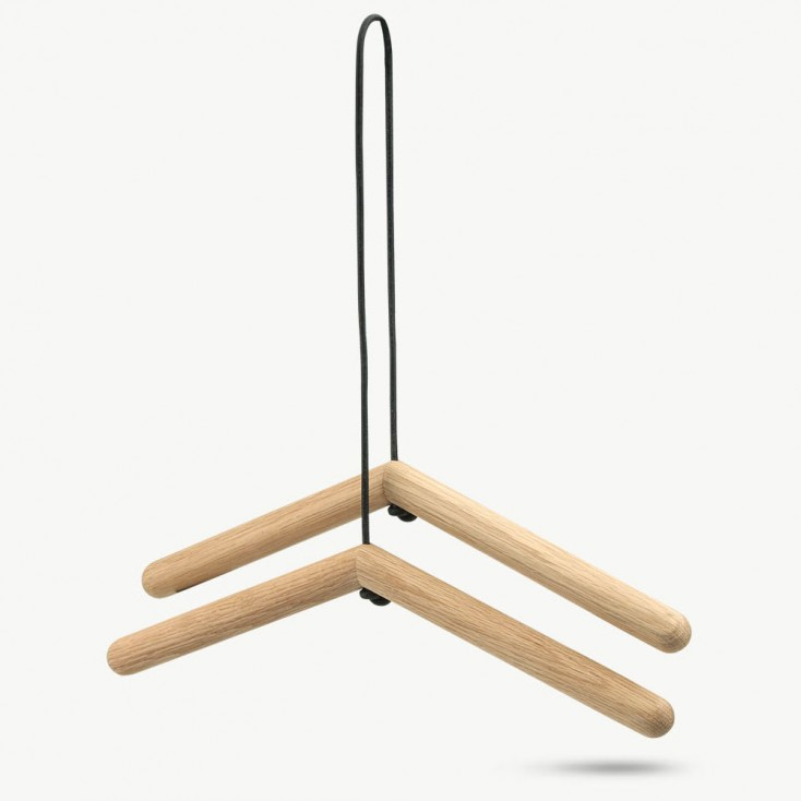 Skagerak Georg Hangers - Oak & Leather