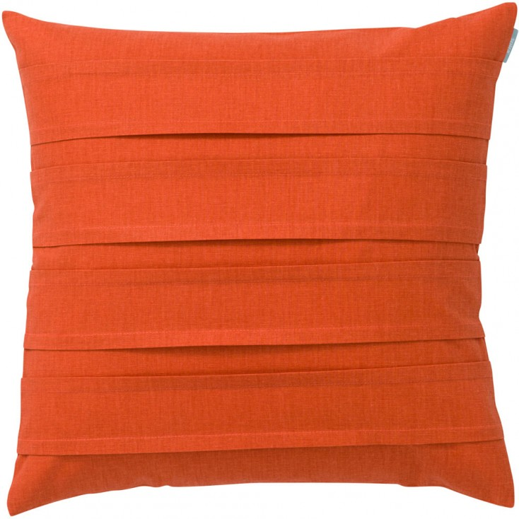 Spira Double Pleat Coral Cushion