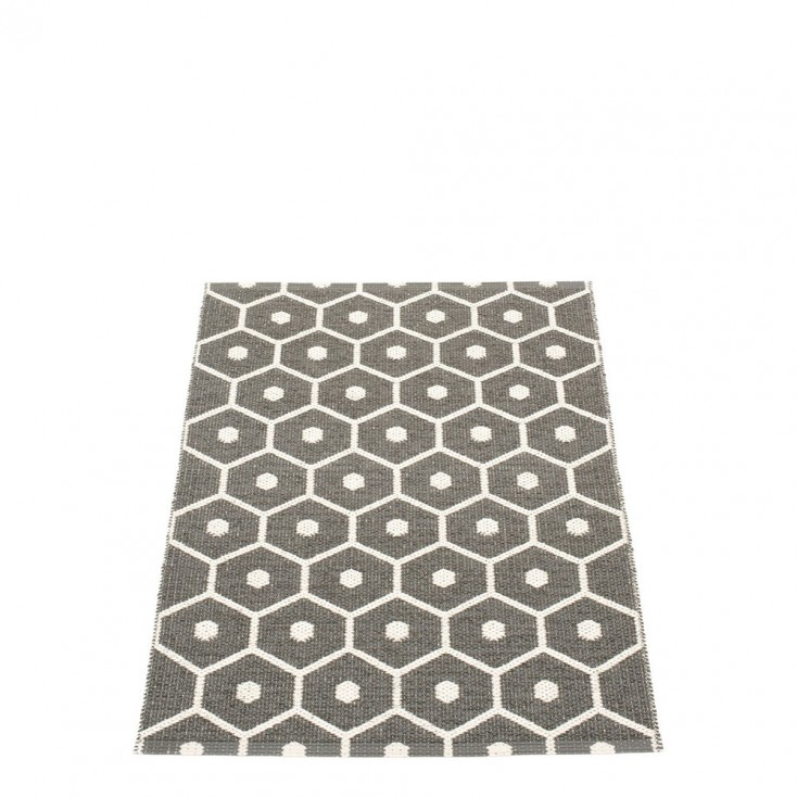 Pappelina Honey Charcoal Grey & Vanilla Runner 70 x 100 cm