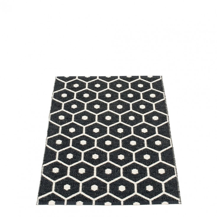 Pappelina Honey Black & Vanilla Runner - 70 x 100 cm