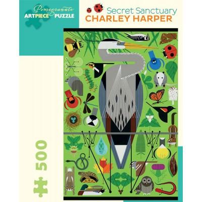Pomegranate Charley Harper Secret Sanctuary 500 Piece Jigsaw Puzzle