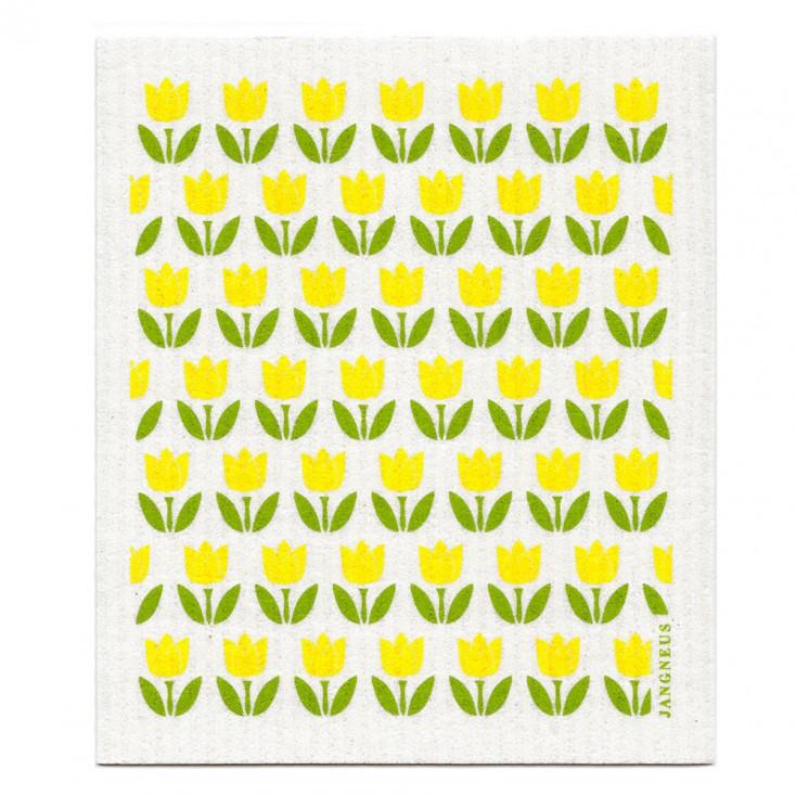 Jangneus Mini Yellow Tulip Dishcloth