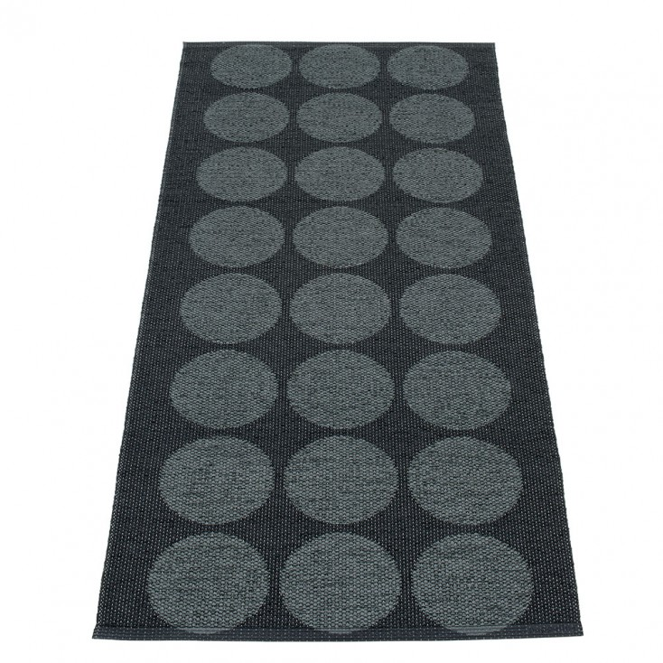 Pappelina Hugo Black Metallic Runner - 70 x 160 cm