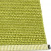 Pappelina Mono Lime & Olive Rug Edge Detail