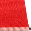 Pappelina Mono Coral & Red Rug Edge Detail