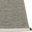 Pappelina Mono Warm Grey & Charcoal Rug Edge Detail