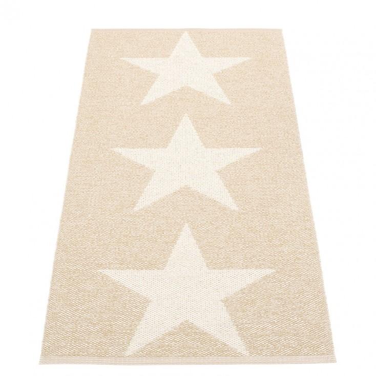 Pappelina Viggo Star Beige Metallic Runner - 70 x 150 cm