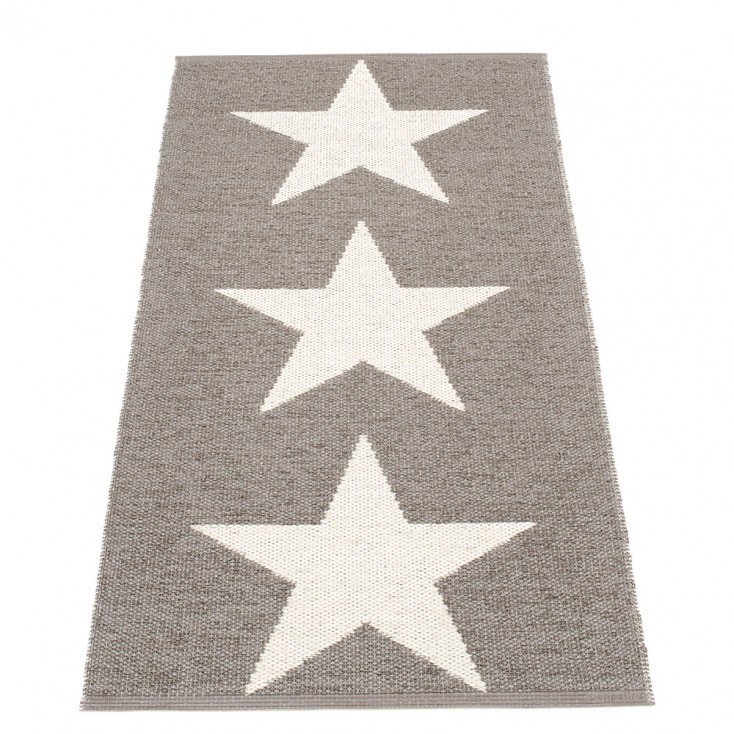 Pappelina Viggo Star Mud Metallic Runner - 70 x 150 cm