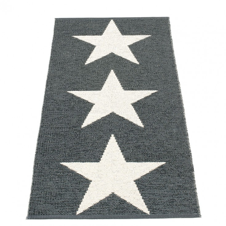 Pappelina Viggo Star Black Metallic Runner - 70 x 150 cm